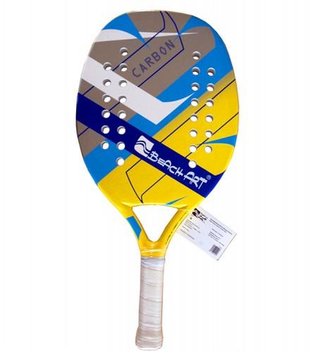 PREZZI DI VENDITA ONLINE OFFERTA Racchetta beach tennis in fibra di carbonio 30% colorata grigia blu gialla