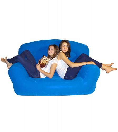 PREZZI DI VENDITA ONLINE OFFERTA Royal sofa floccato blu 172X85X90 cm
