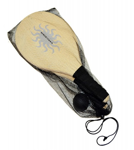 PREZZI DI VENDITA ONLINE OFFERTA Racchettone legno pieno con pallina in gomma da 4 cm