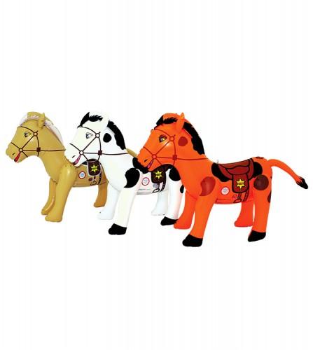 PREZZI DI VENDITA ONLINE OFFERTA Cavallo gonfiabile con sella e briglie 3 colori assortiti 50 cm