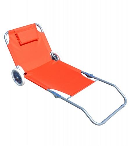 PREZZI DI VENDITA ONLINE OFFERTA Spiaggina reclinabile con telaio pieghevole 150X63 cm