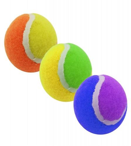 PREZZI DI VENDITA ONLINE OFFERTA Set 3 palline piccole beach tennis vari colori 4.8 cm