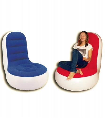 PREZZI DI VENDITA ONLINE OFFERTA Poltrona floccata seduta larga 2 assortiti blu rosso