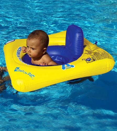 PREZZI DI VENDITA ONLINE OFFERTA Anello mare baby seat 3 camere d'aria giallo e blu 65X65 cm